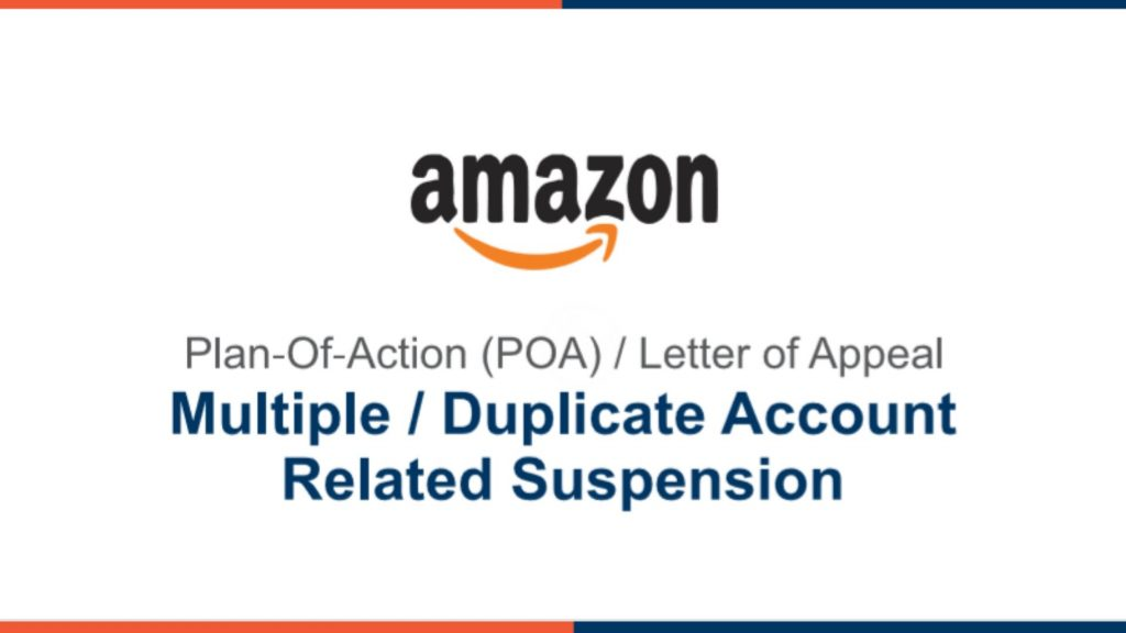 Amazon POA - Multiple/Duplicate Account (FREE DOWNLOAD)